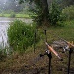 chytání na feeder za deště