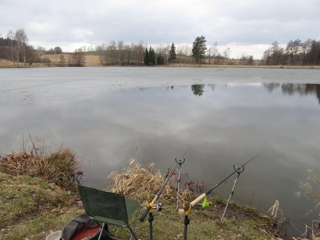 zimní lov na feeder