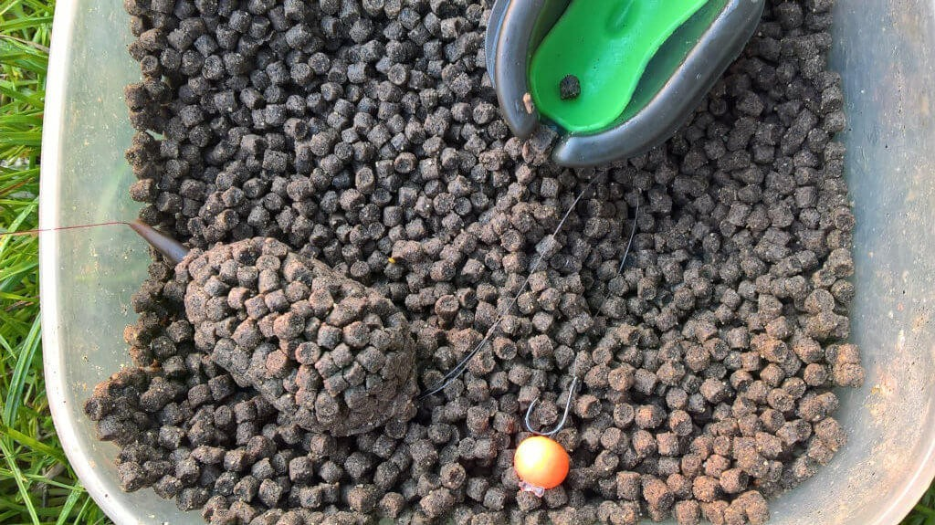method feeder s peletkami