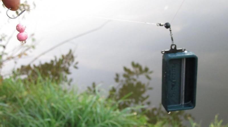 navázání krmítka patron fishing