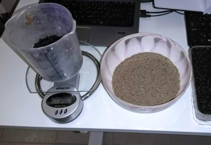 Kolik litrů a kg hotového krmení je z 1kg balení