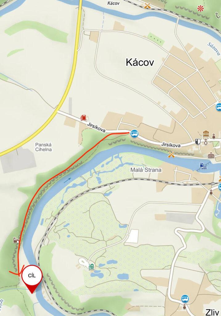 mapa závodní trati